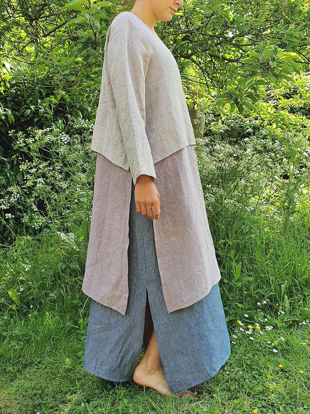 girl wearing dress in garden