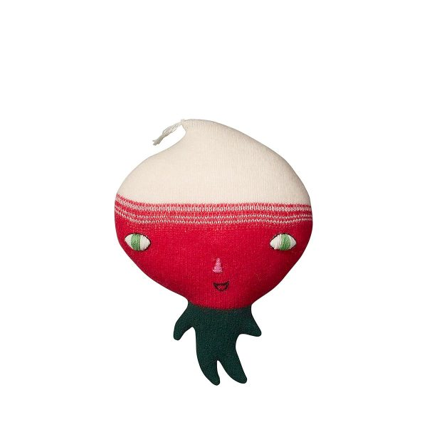 soft toy like a radish on legs