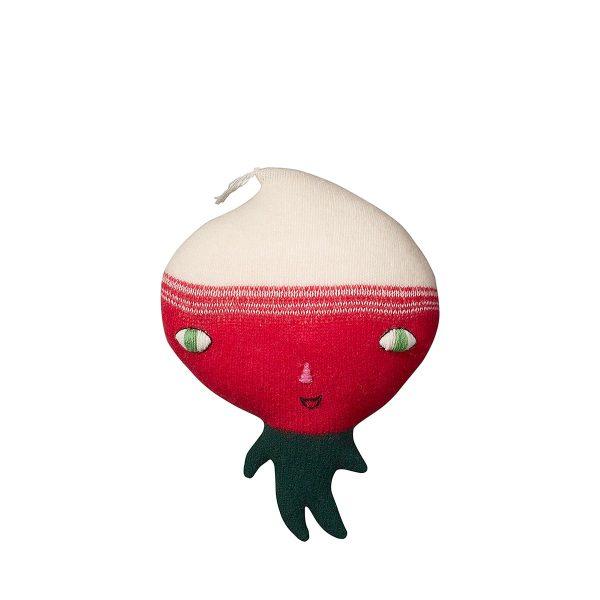 soft toy like a radish on legs
