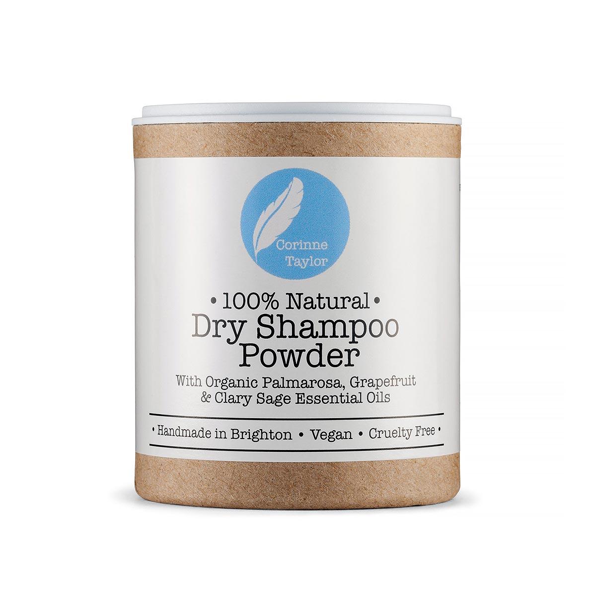 powder in box on white background