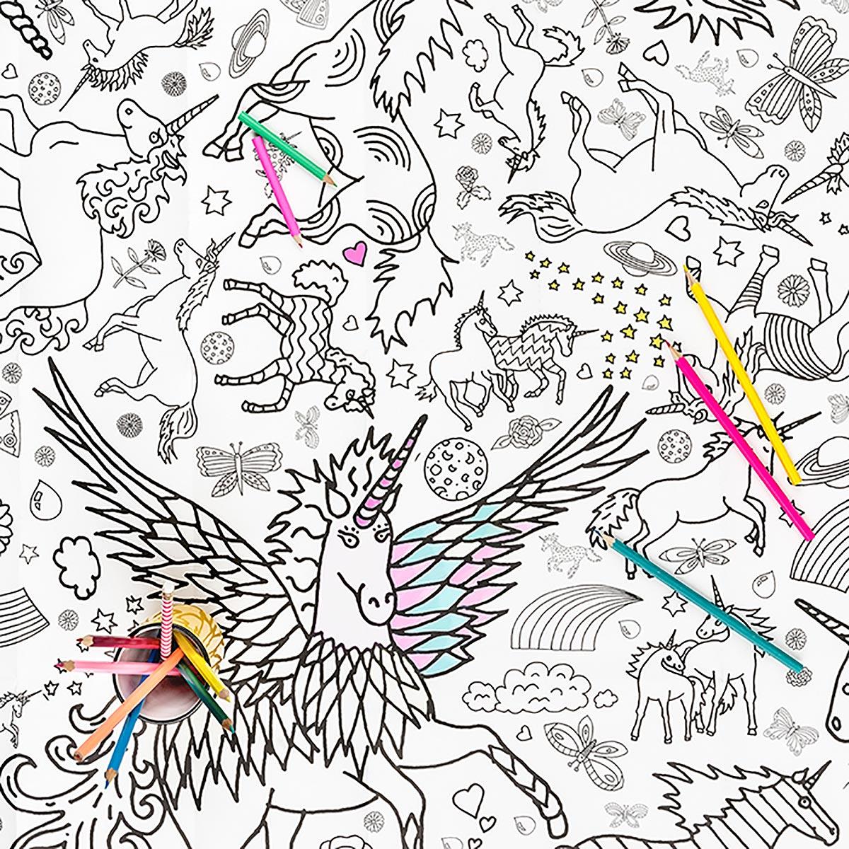 picture of unicorns to colour in