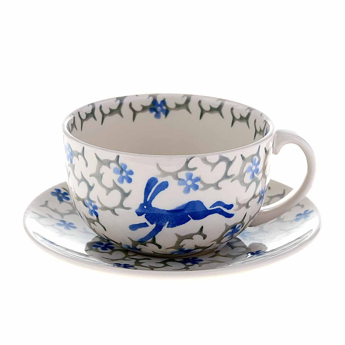 cup and saucer on white background