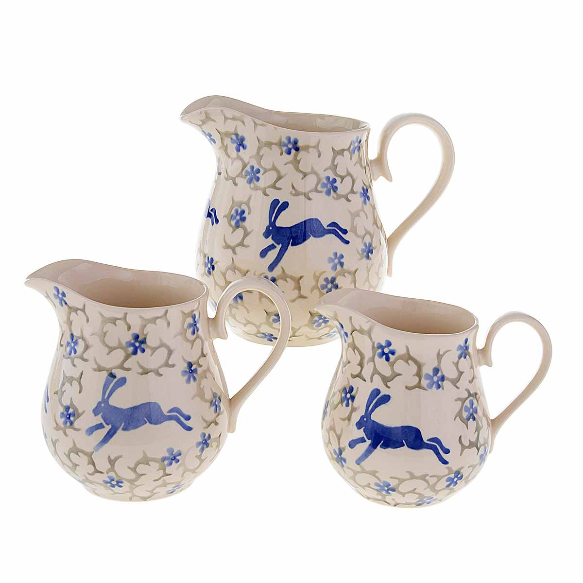 jugs on white background