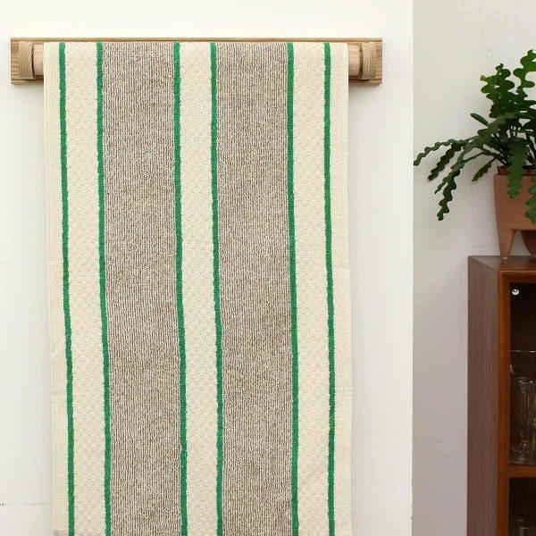 towel on rail on wall