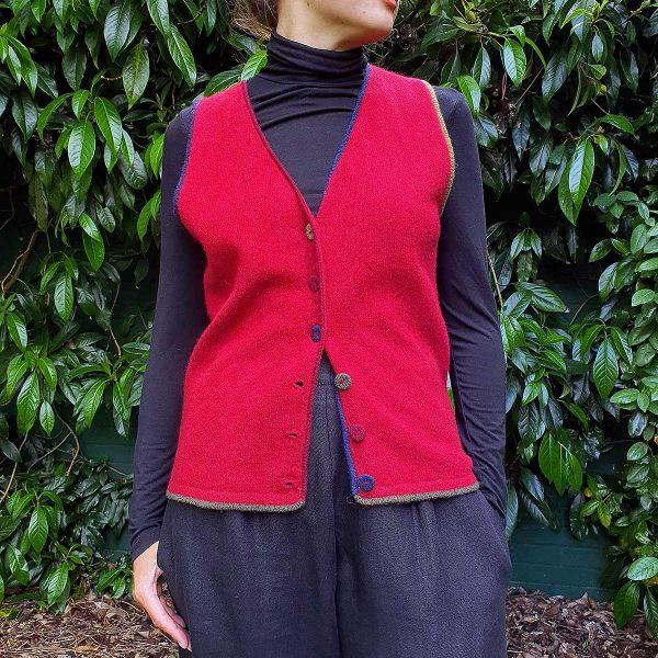 woman wearing waistcoat