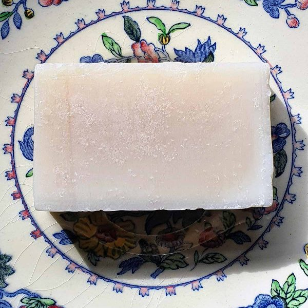soap bar on plate