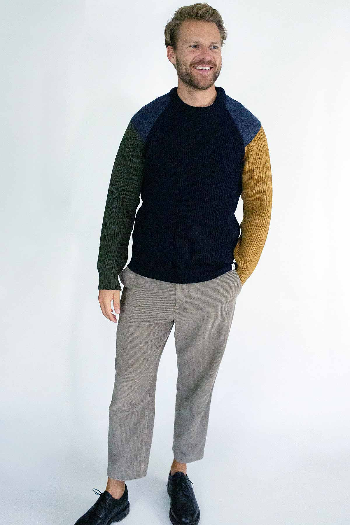 front view man wearing jumper