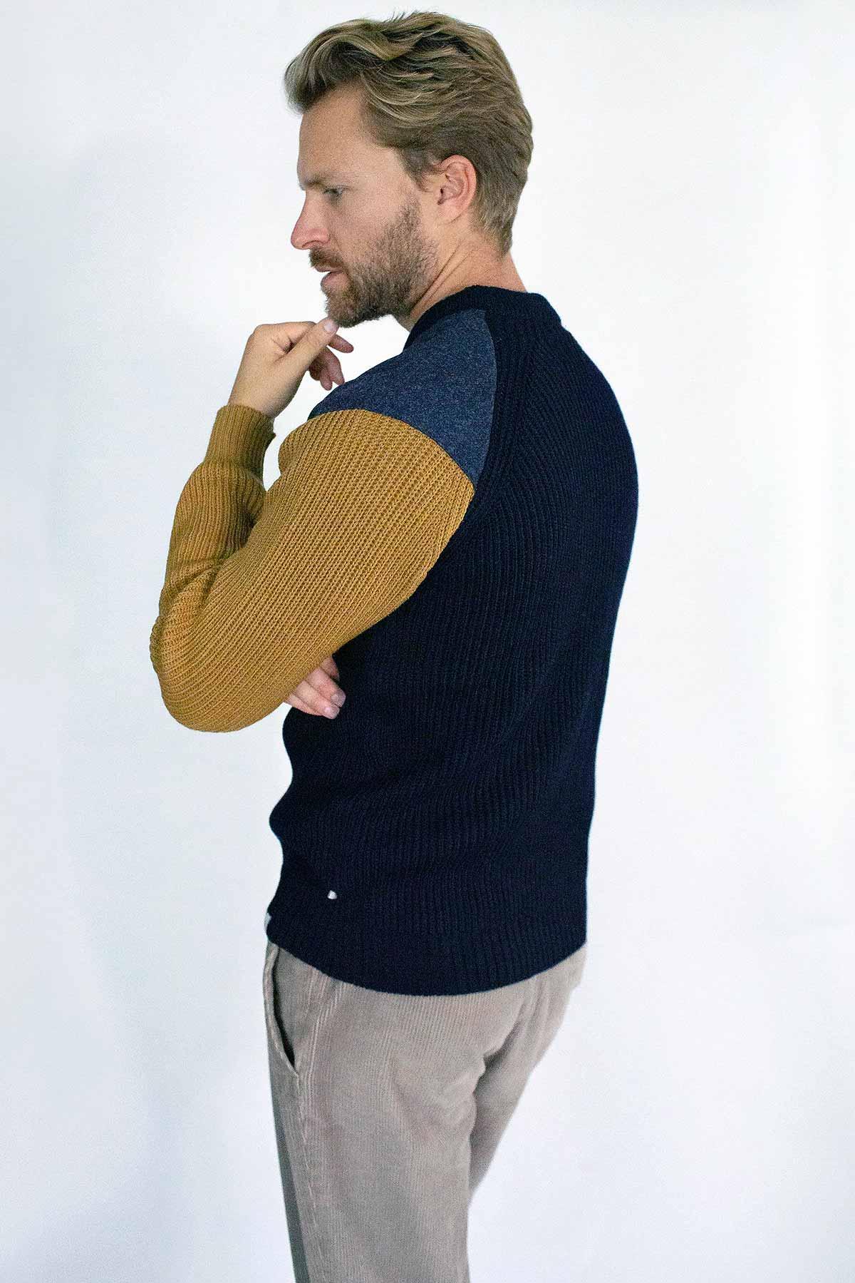side view man wearing jumper