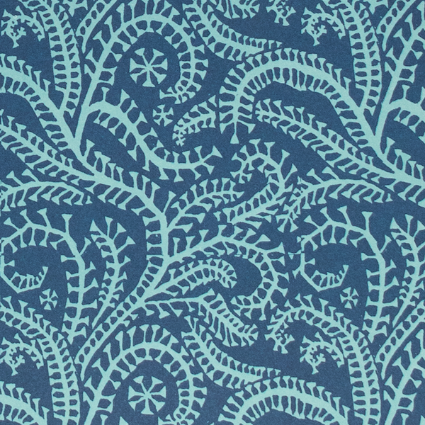 blue patterned paper