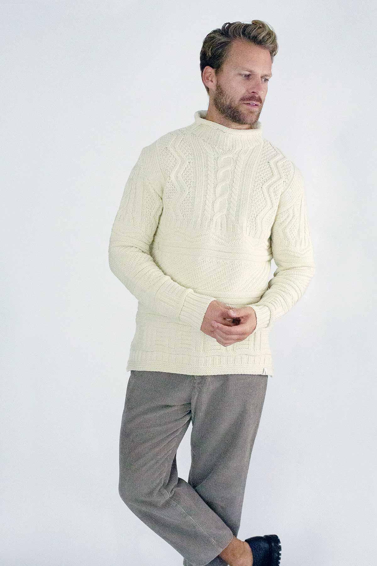 man wearing jumper