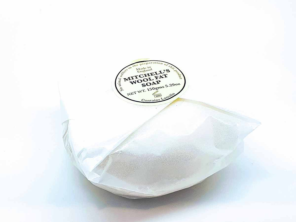 wrapped soap on white background