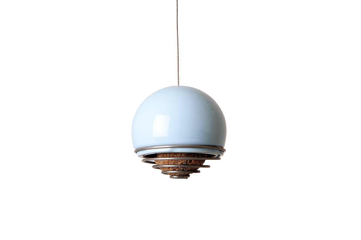 ball bird feeder on white background
