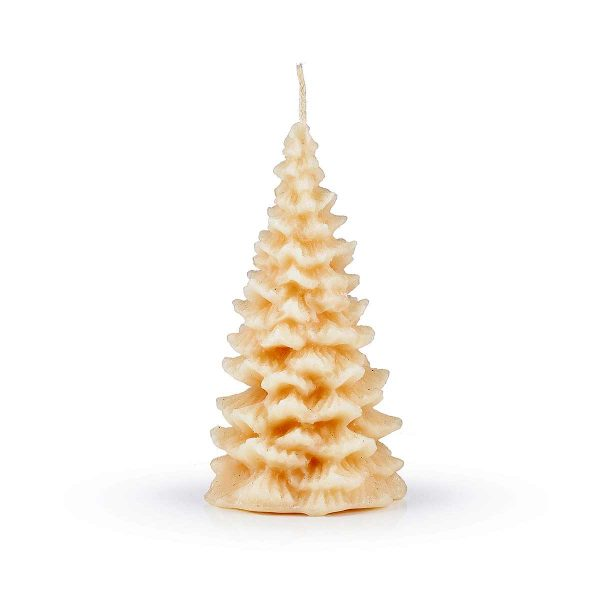 christmas tree candle on white background