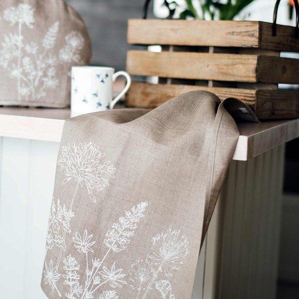 tea towel on worktop