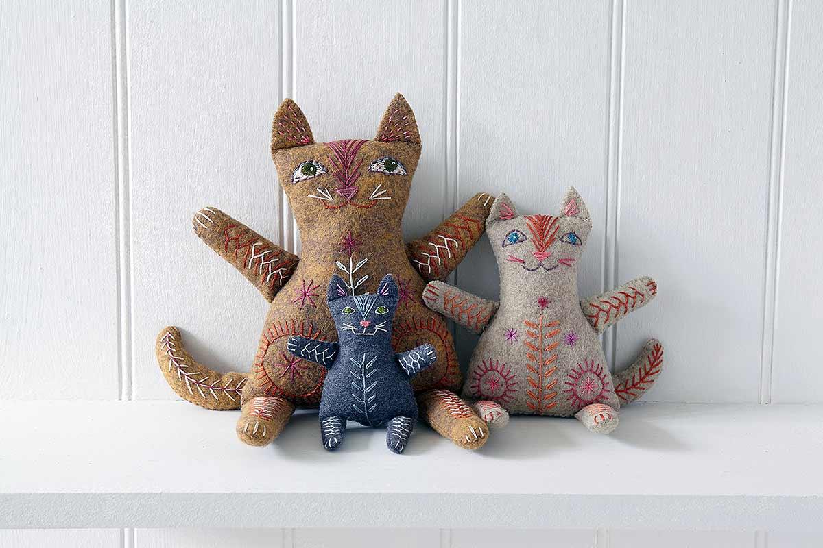 cat toys on white shelf