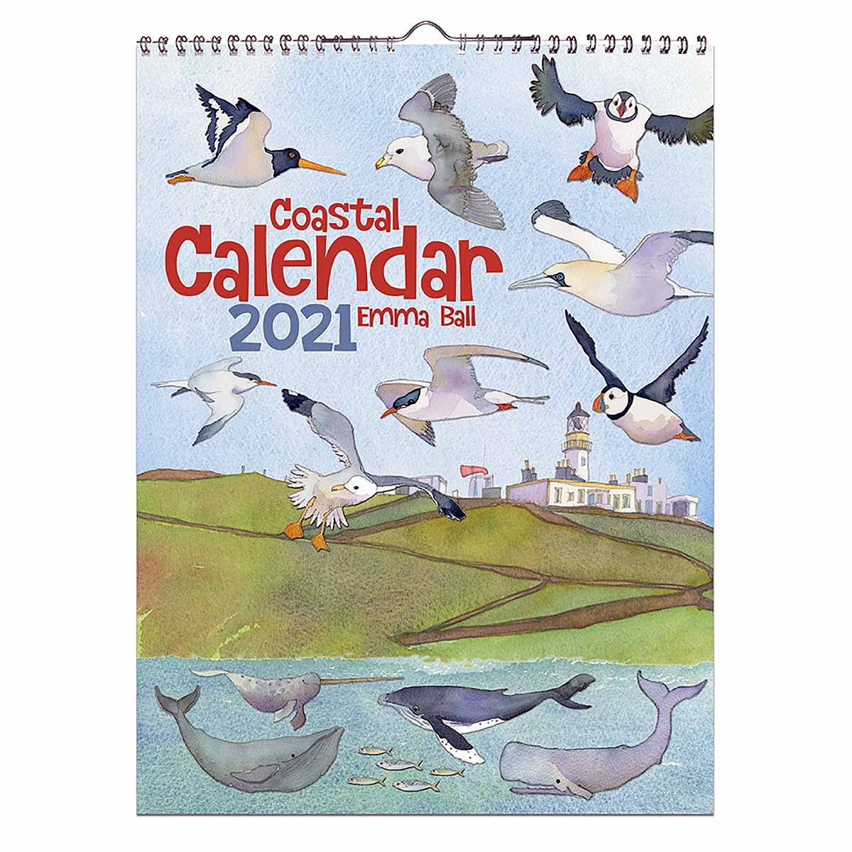 calendar front page on white background